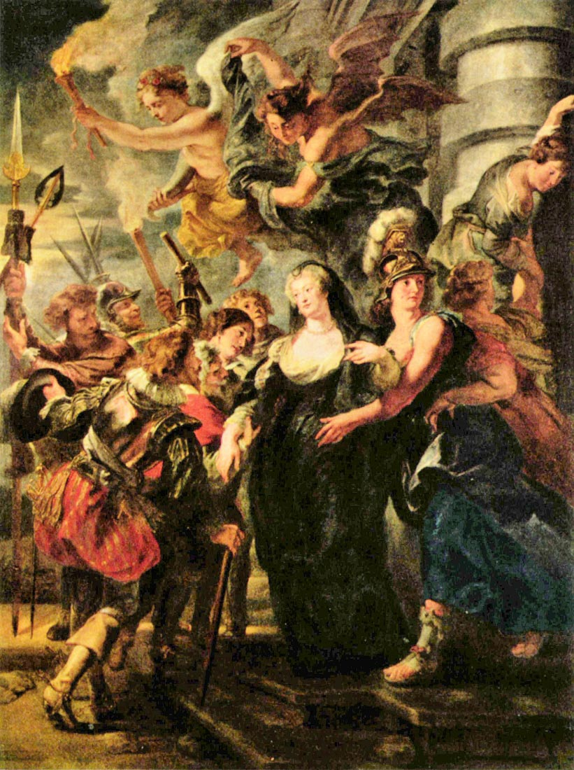 The Medicis queen escapes from Blois - Rubens