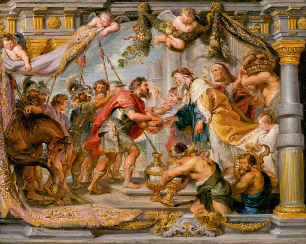 The Meeting of Abraham and Melchizedek - Peter Paul Rubens