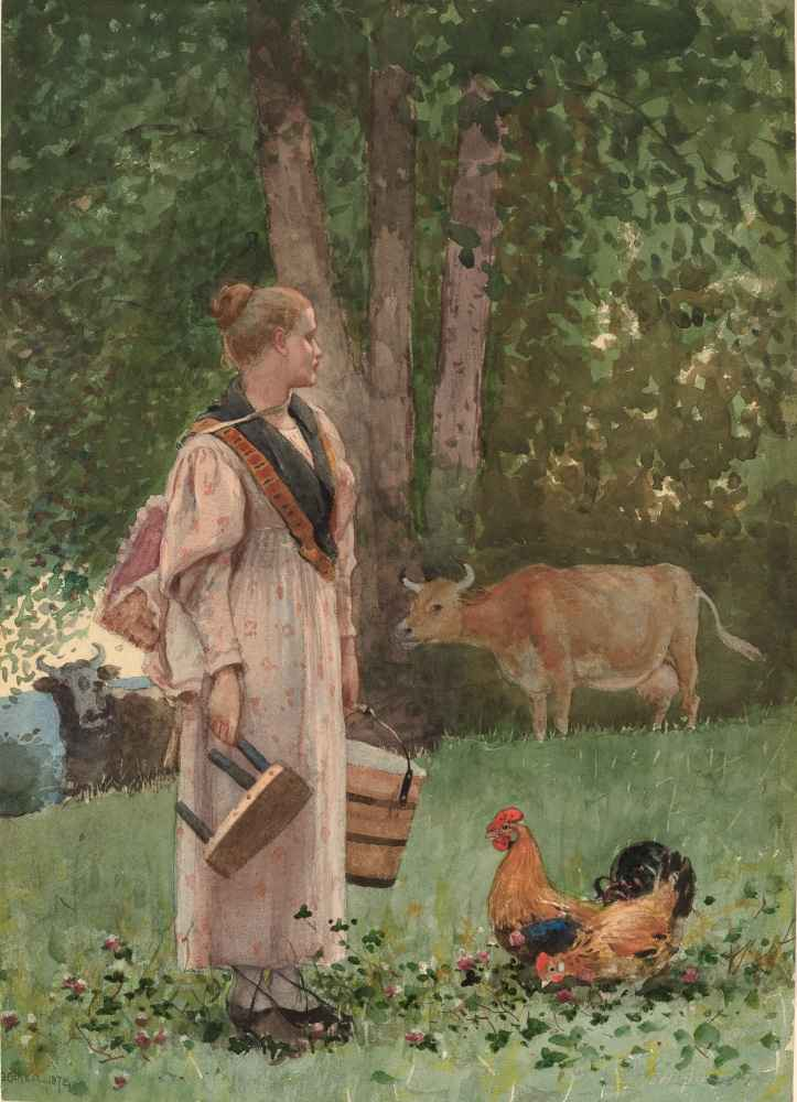 The Milk Maid - Winslow Homer