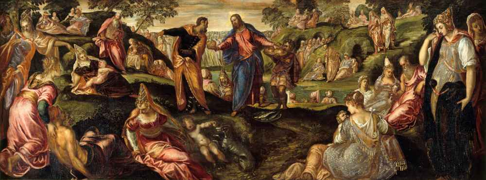 The Miracle of the Loaves and Fishes - Jacopo Tintoretto
