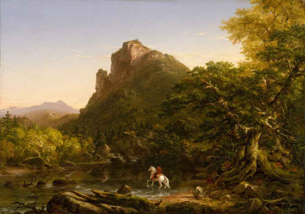 The Mountain Ford - Thomas Cole