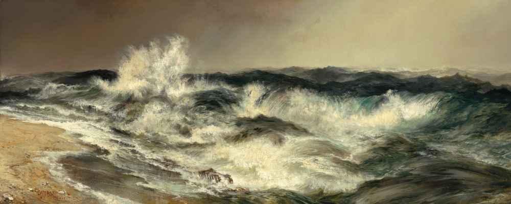 The Much Resounding Sea - Thomas Moran