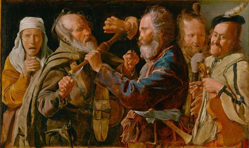 The Musicians Brawl - Georges de La Tour
