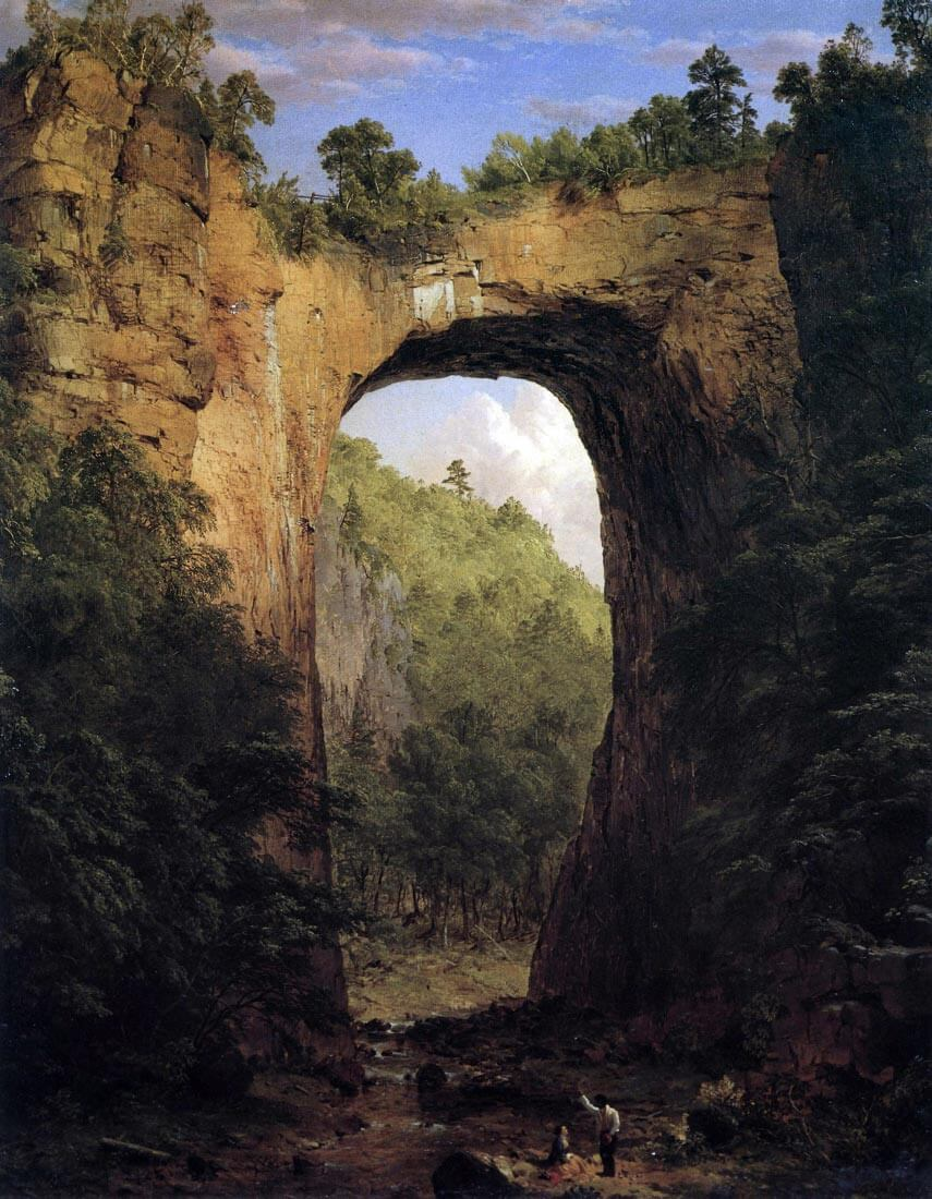 The Natural Bridge, Virginia - Frederick Edwin Church