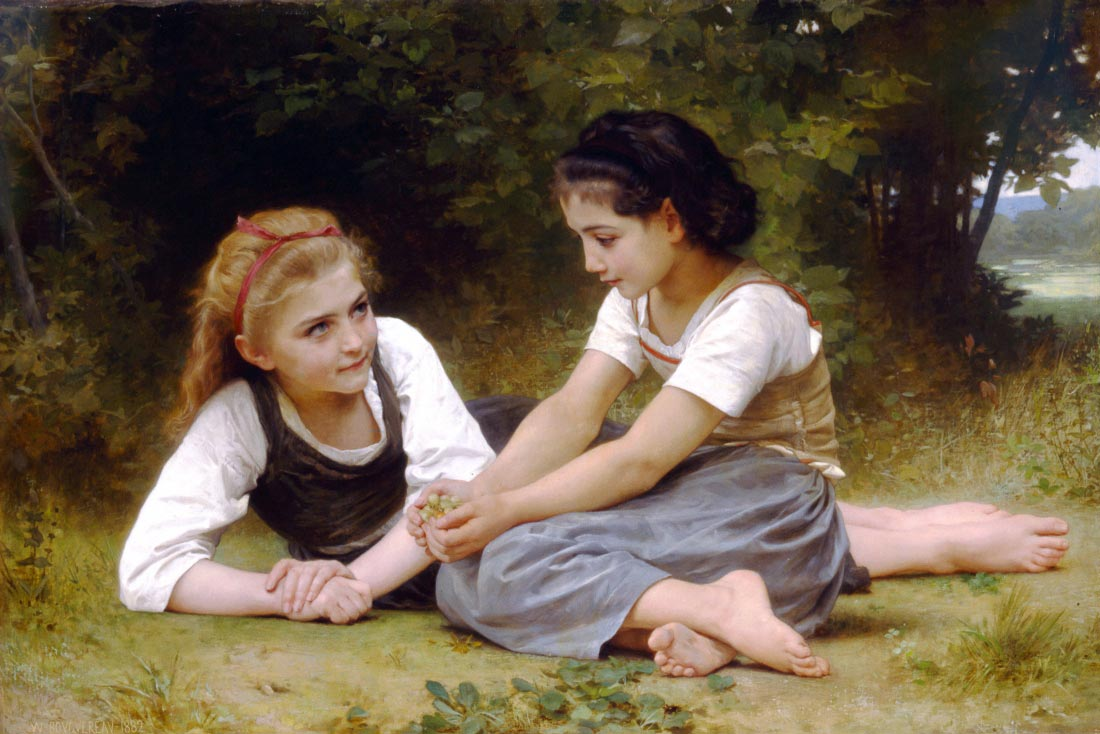 The Nut Gatherers - Bouguereau
