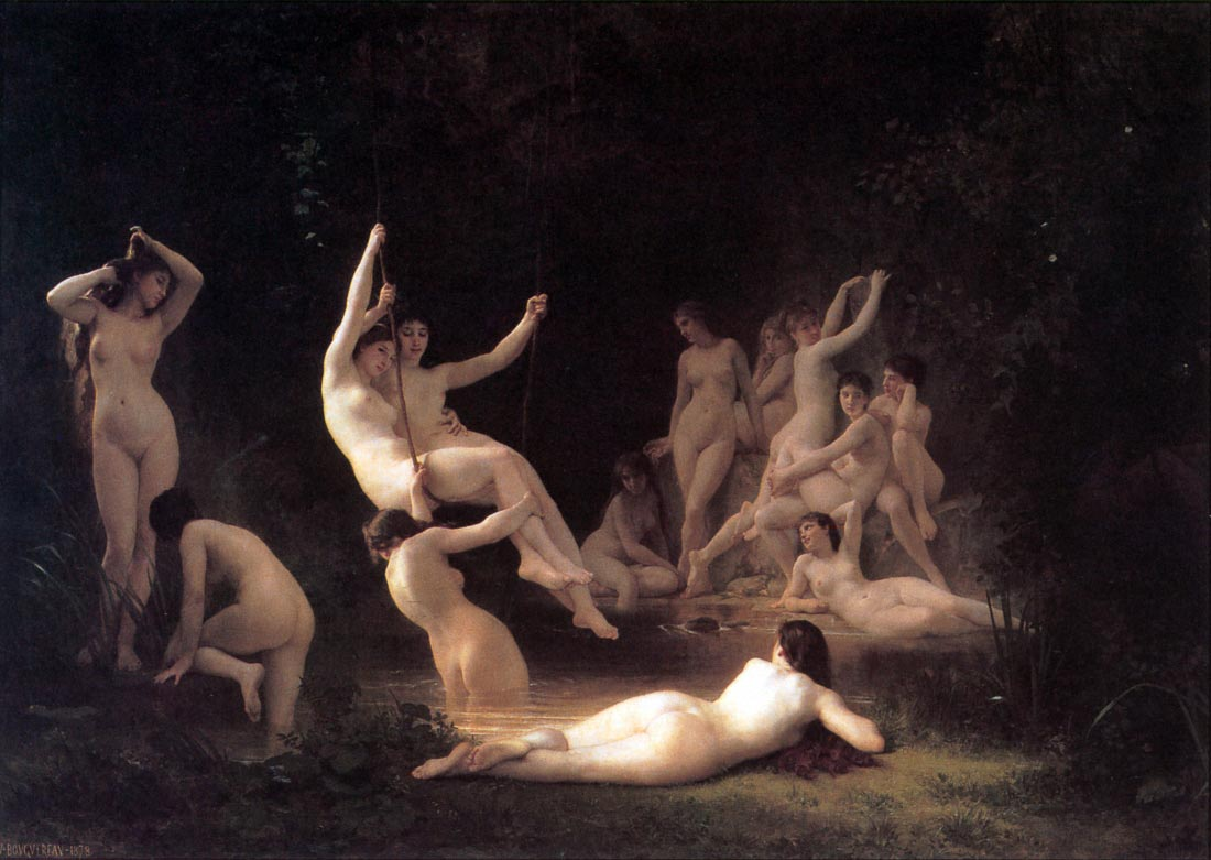 The Nymphaeum - Bouguereau