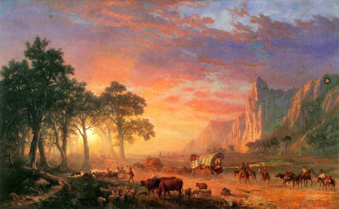 The Oregon Trail - Bierstadt