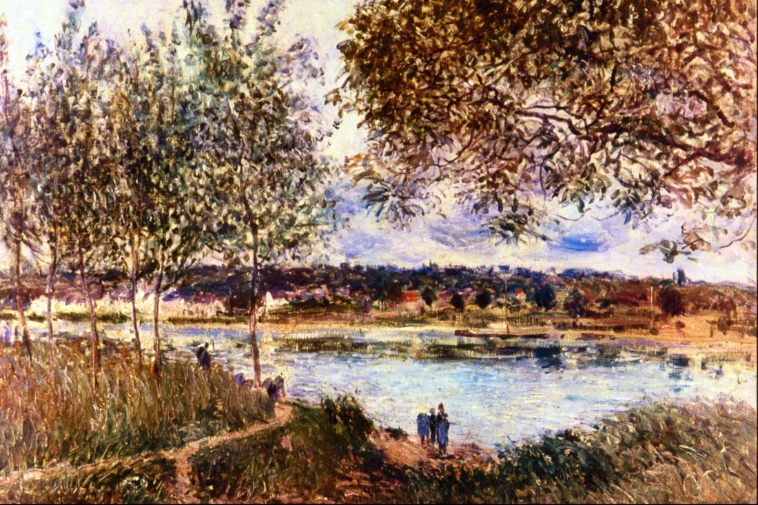 The Path to the Old Ferry, 1880 - Sisley