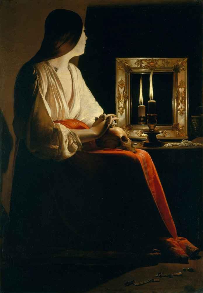 The Penitent Magdalen - Georges de La Tour