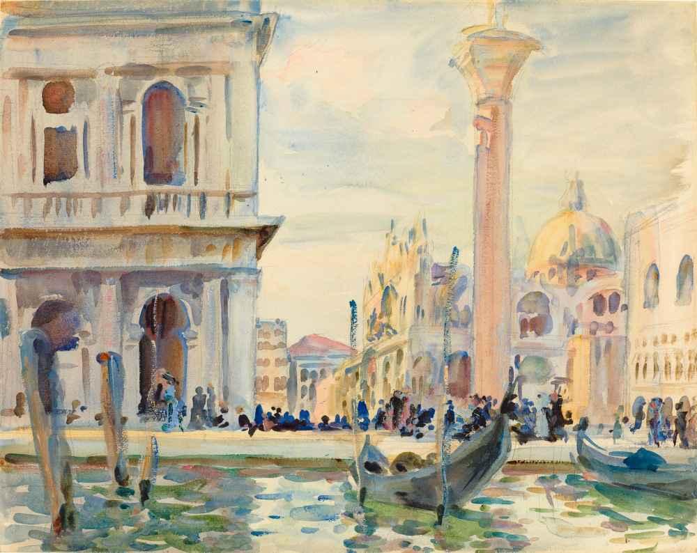 The Piazzetta - John Singer Sargent
