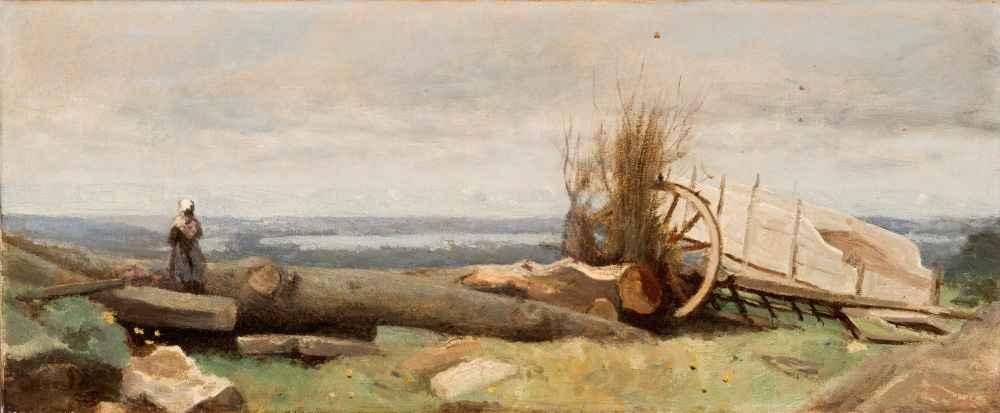 The Plain of La Beauce - Jean Baptiste Camille Corot