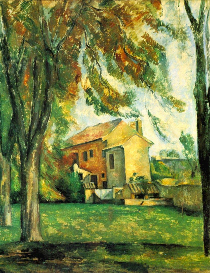 The Pond of the Jas de Bouffan in Winter - Cezanne
