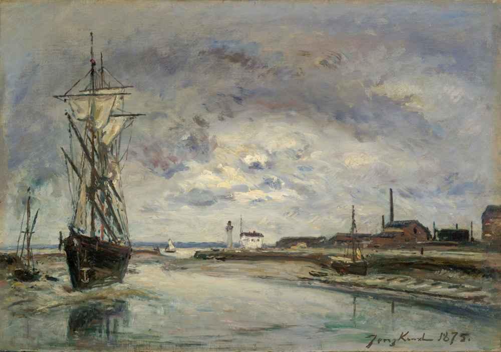 The Port of Honfleur - Johan Barthold Jongkind
