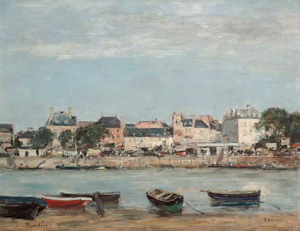 The Port of Trouville - Eugene Boudin