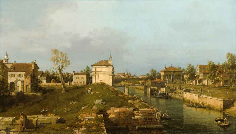 The Porta Portello, Padua - Canaletto - Bernardo Bellotto