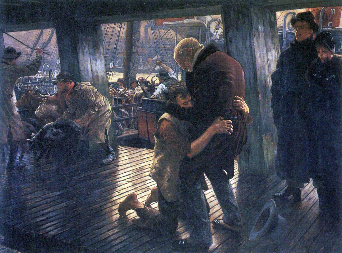 The Prodigal Son in Modern Life - The Return - Tissot
