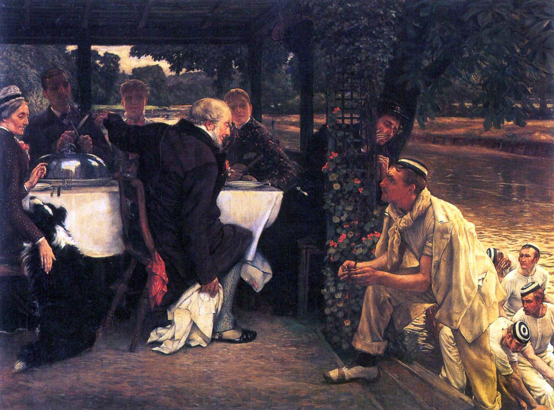 The Prodigal Son in Modern Life- The fattened calf - Tissot