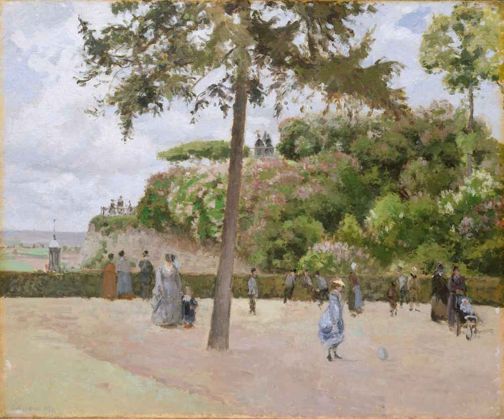 The Public Garden at Pontoise - Camille Pissarro