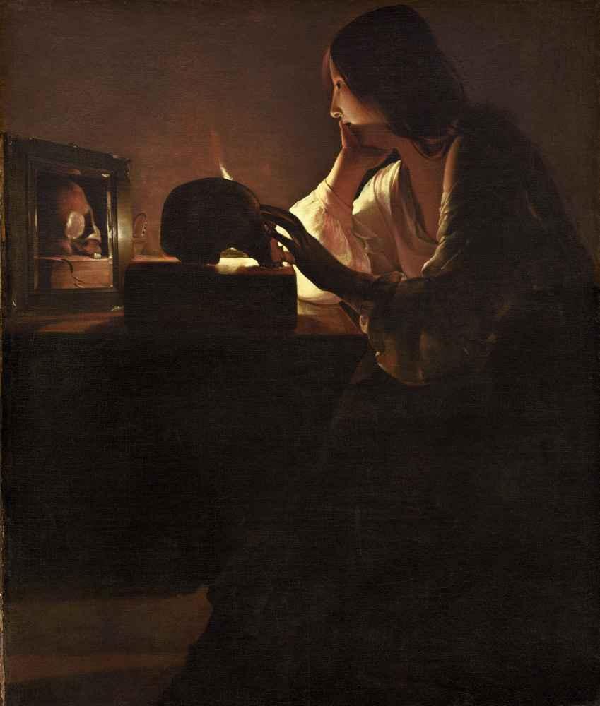 The Repentant Magdalen - Georges de La Tour