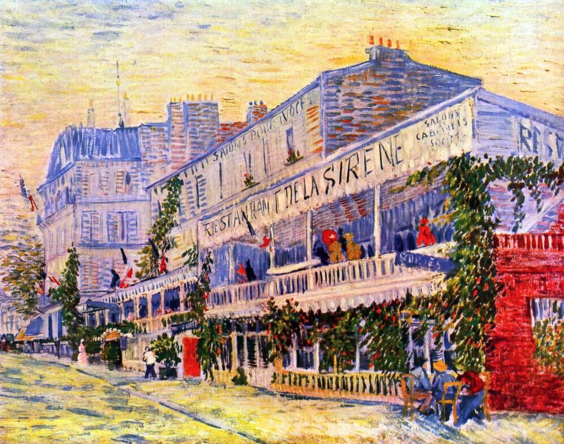 The Restaurant de la siren in Asnieres - Van Gogh