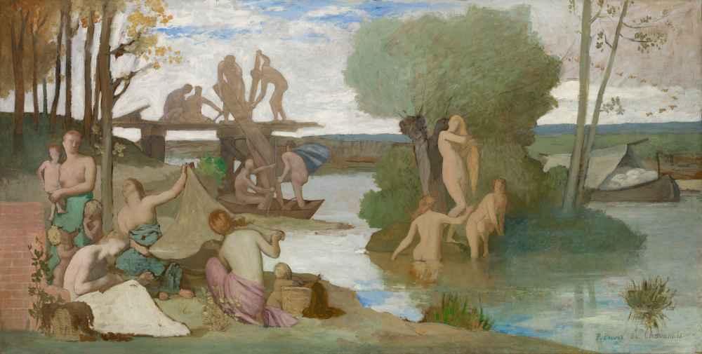 The River - Pierre Puvis de Chavannes