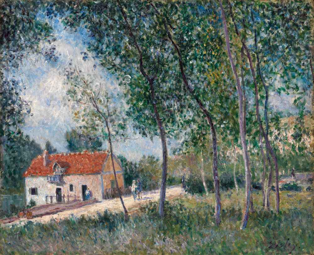 The Road from Moret to Saint-Mammès - Alfred Sisley