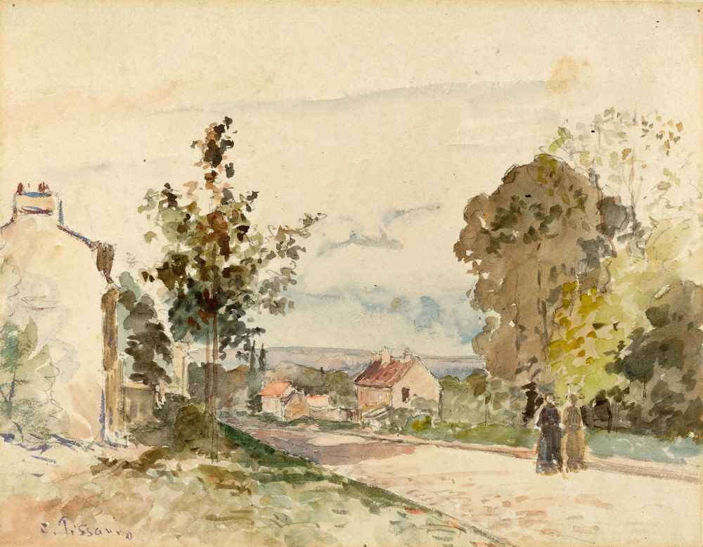 The Road from Versailles to Louveciennes - Camille Pissarro