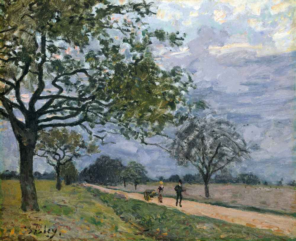 The Road from Versailles to Louveciennes - Alfred Sisley