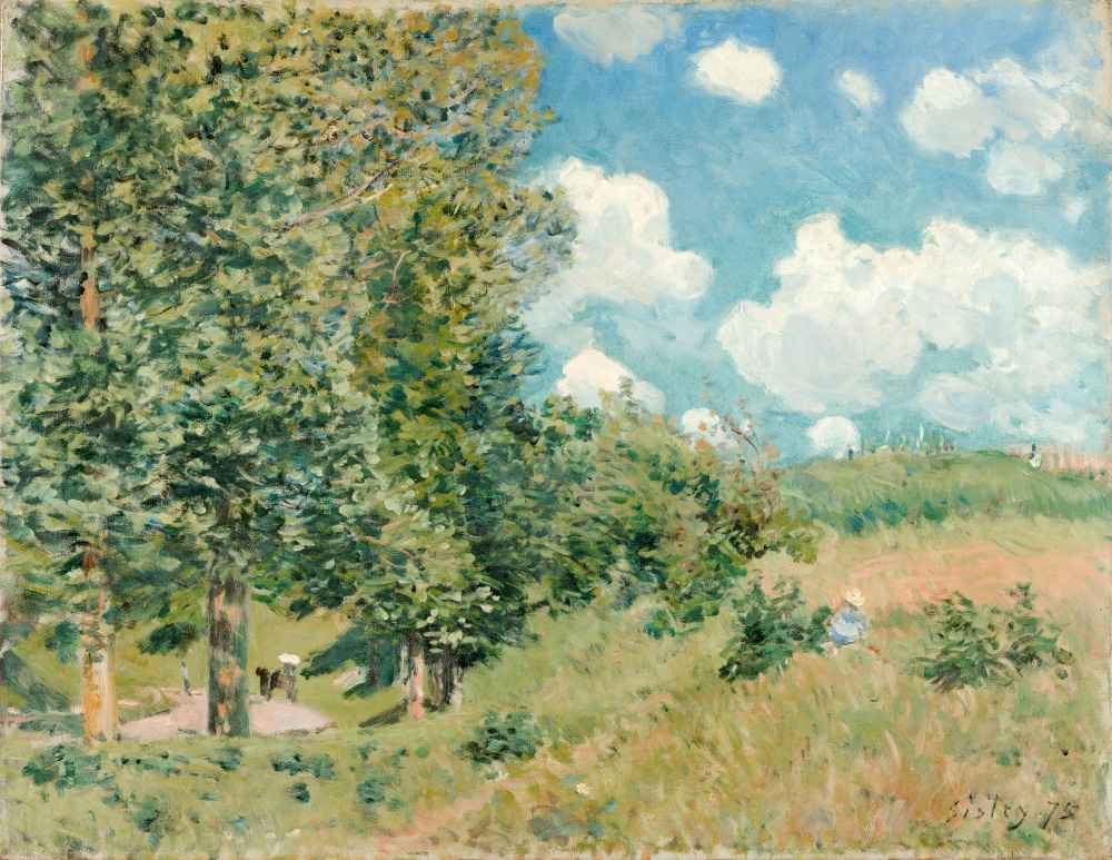 The Road from Versailles to Saint-Germain - Alfred Sisley