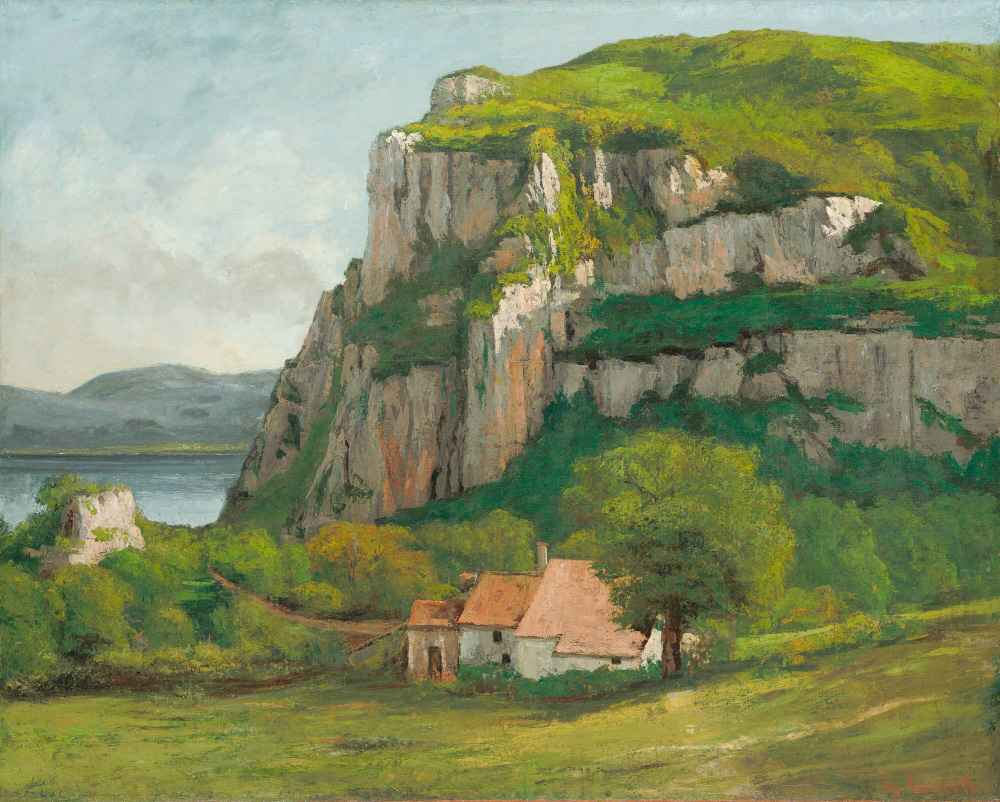 The Rock of Hautepierre - Gustave Courbet