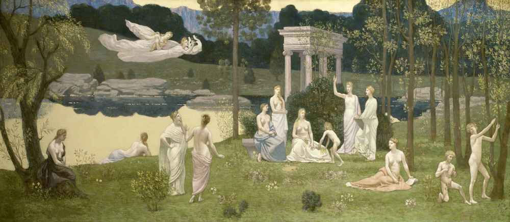 The Sacred Grove, Beloved of the Arts and the Muses - Pierre Puvis de