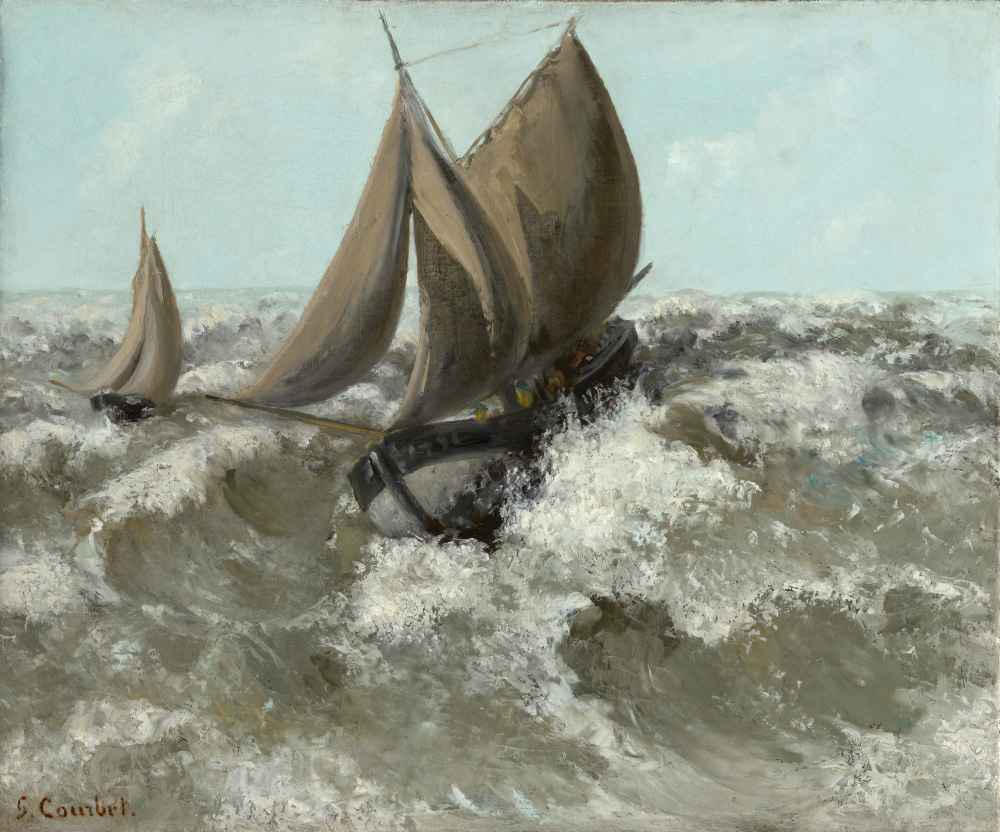 The Sailboat (Seascape) - Gustave Courbet