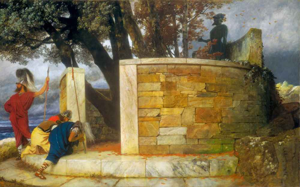 The Sanctuary of Hercules - Arnold Bocklin