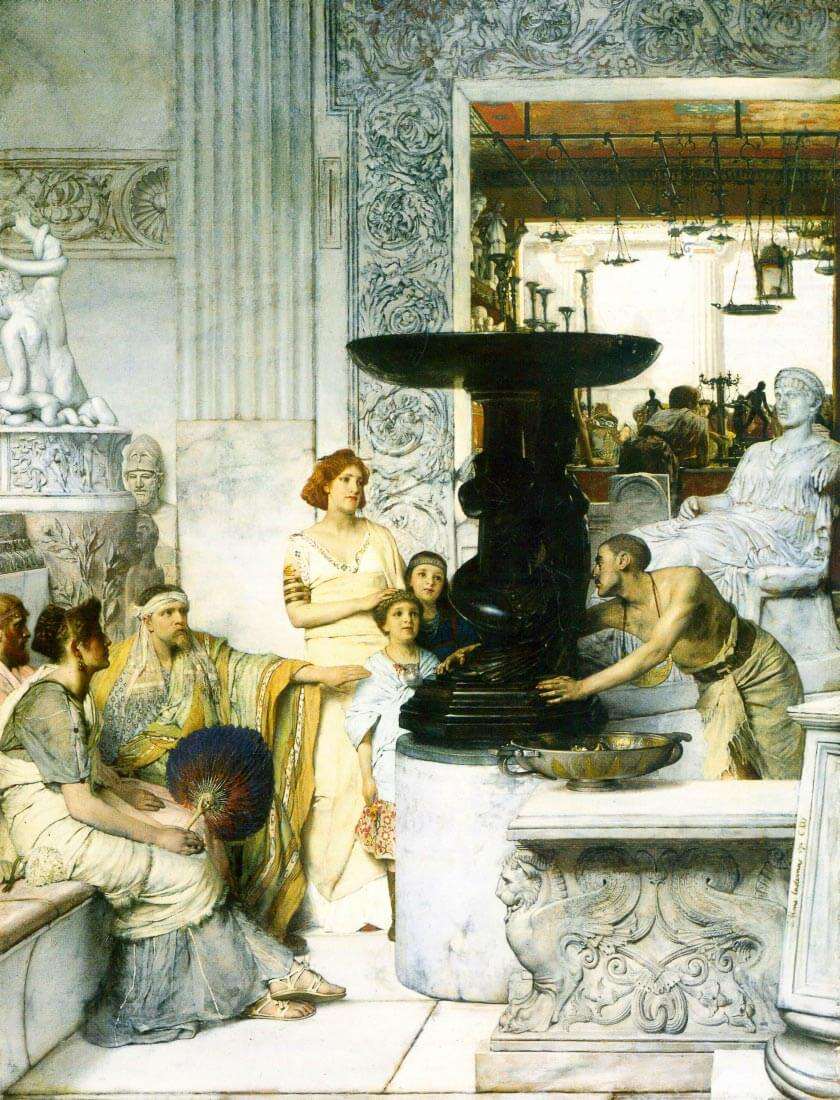 The Sculpture Gallery - Alma-Tadema