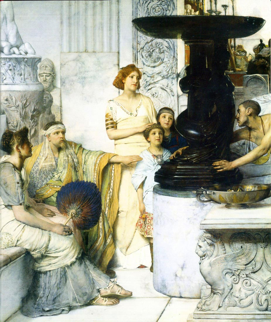 The Sculpture Gallery detail - Alma-Tadema