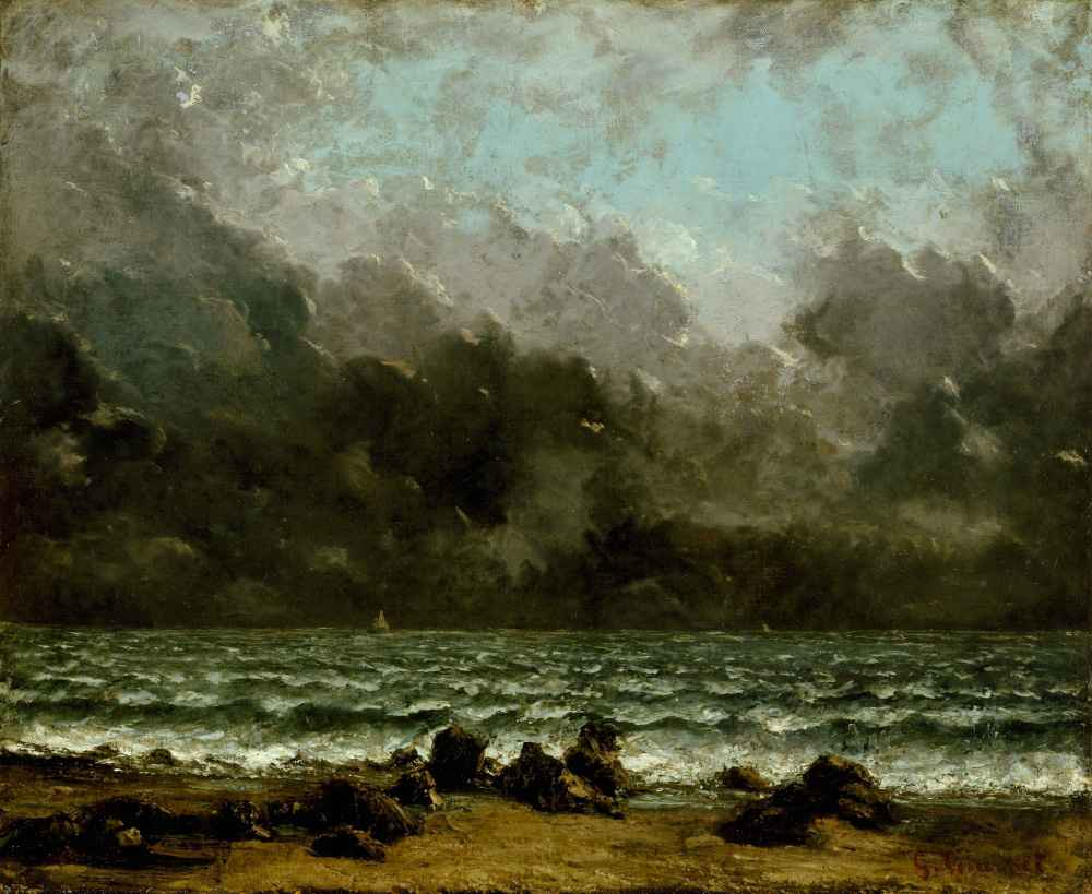 The Sea - Gustave Courbet