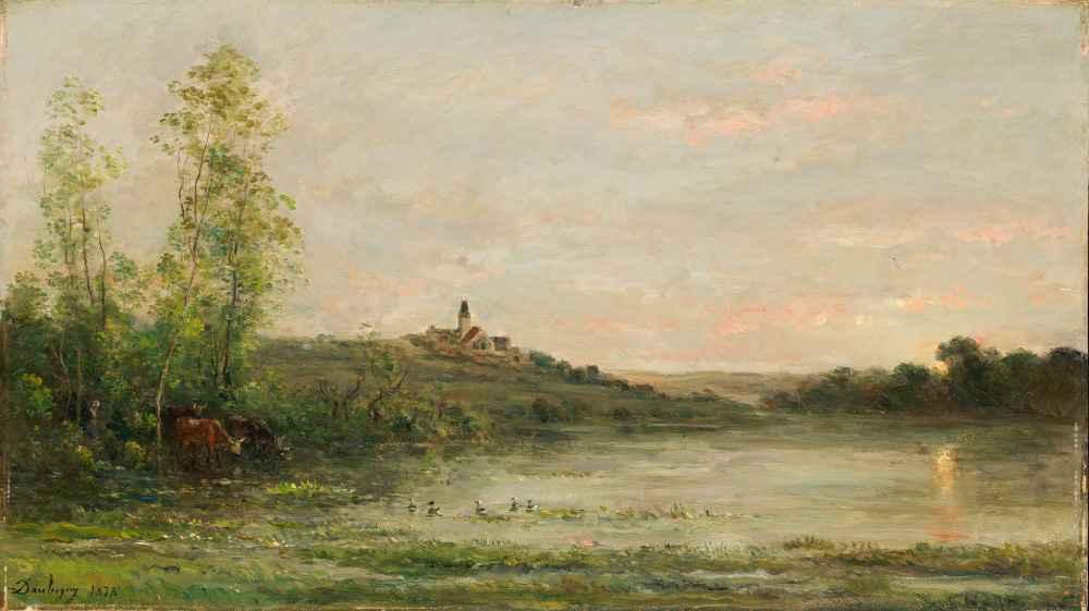 The Seine - Morning - Charles-Francois Daubigny