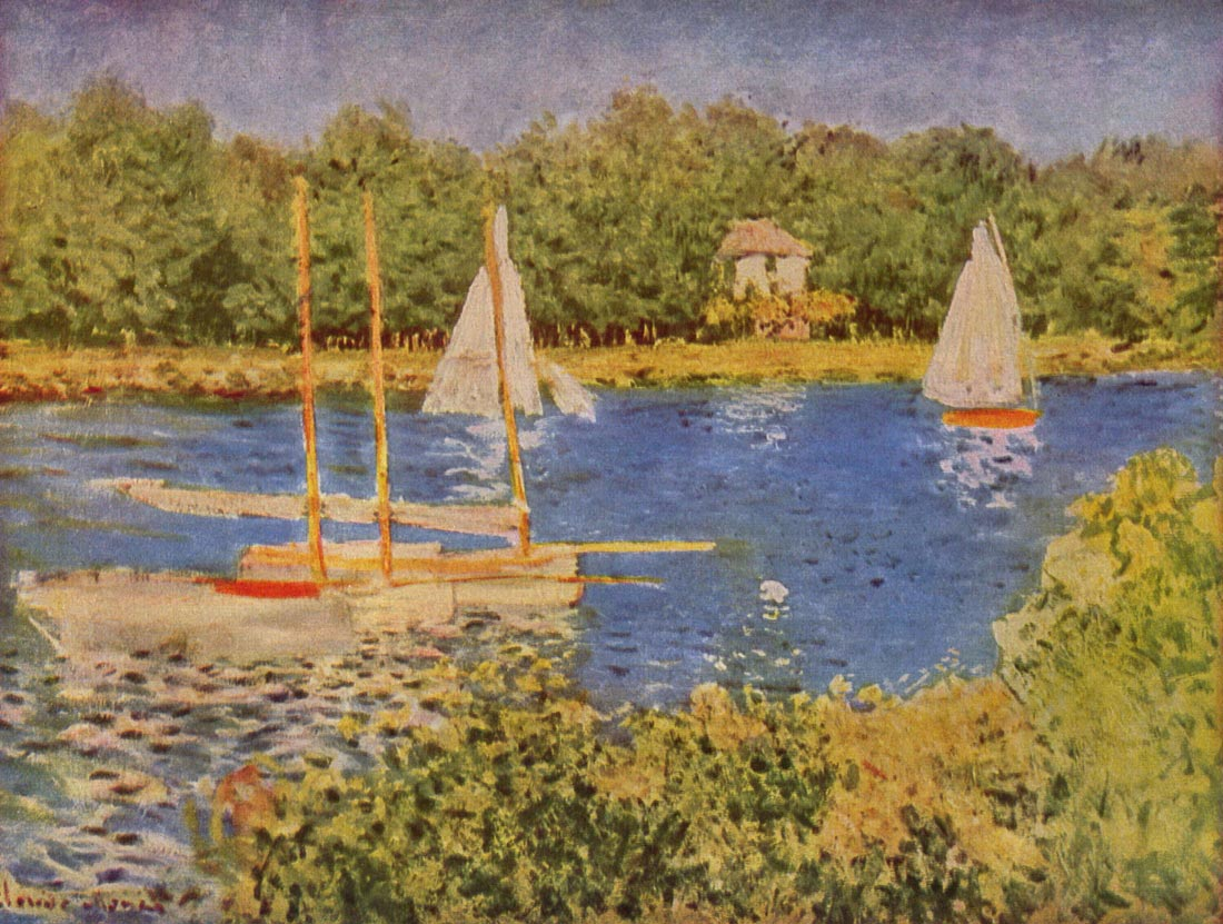 The Seine at Argenteuil Basin - Monet