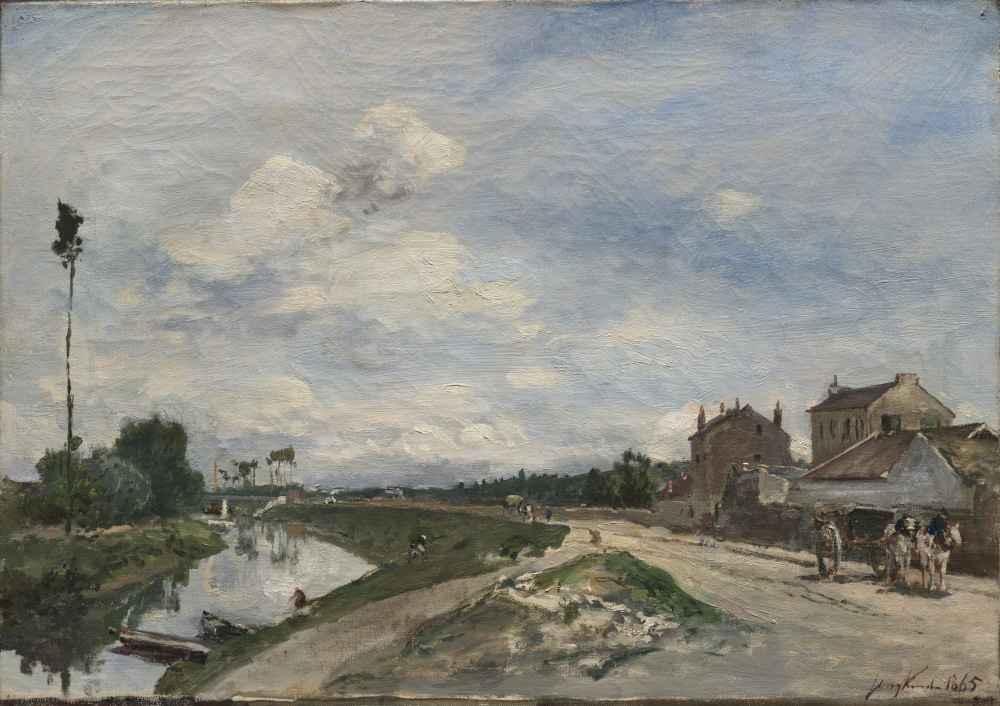 The Seine at Bas-Meudon - Johan Barthold Jongkind
