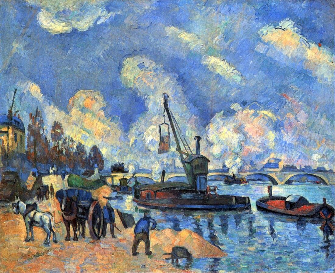 The Seine at Bercy - Cezanne