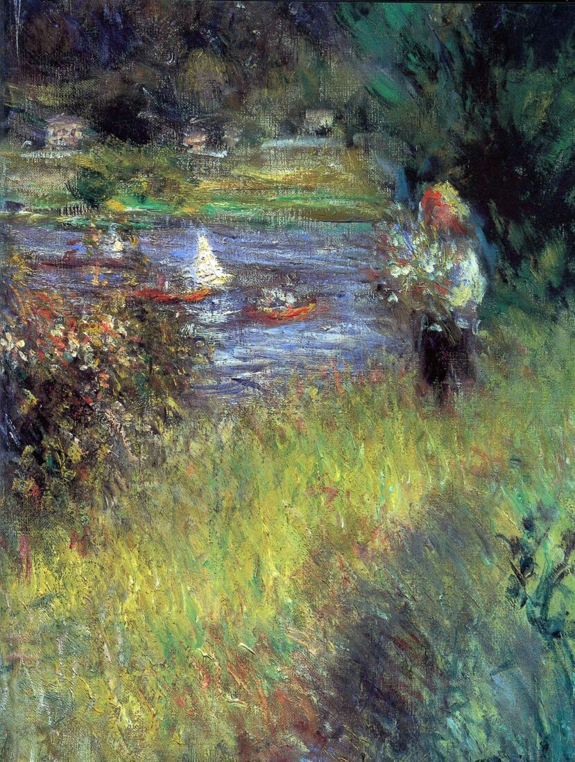 The Seine at Chatou (Detail) - Renoir