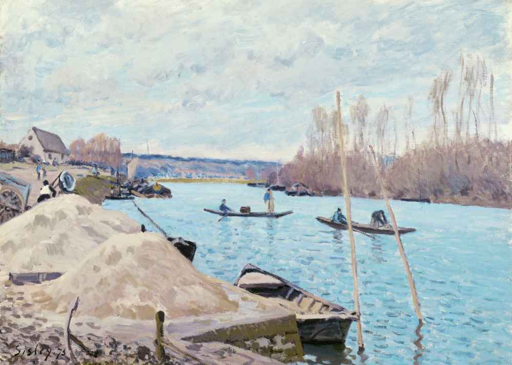 The Seine at Port-Marly, Piles of Sand - Alfred Sisley