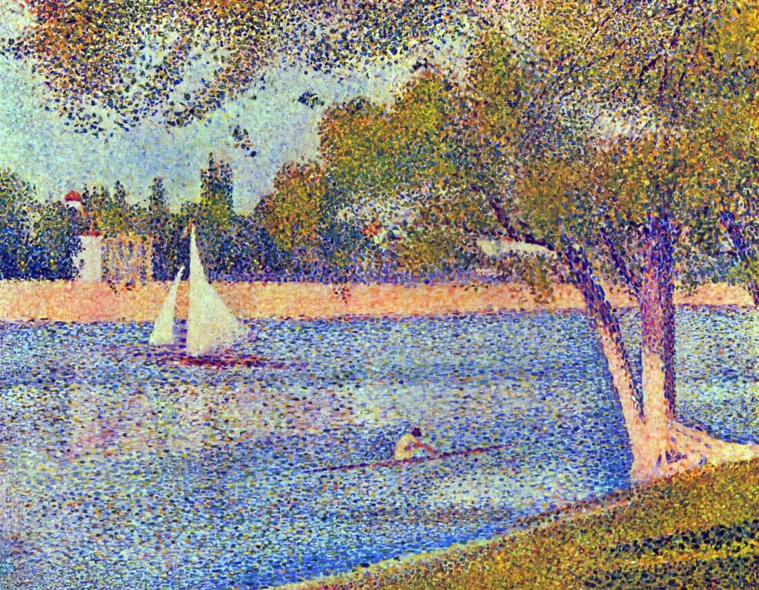 The Seine at the Grand Jatte, Spring - Seurat