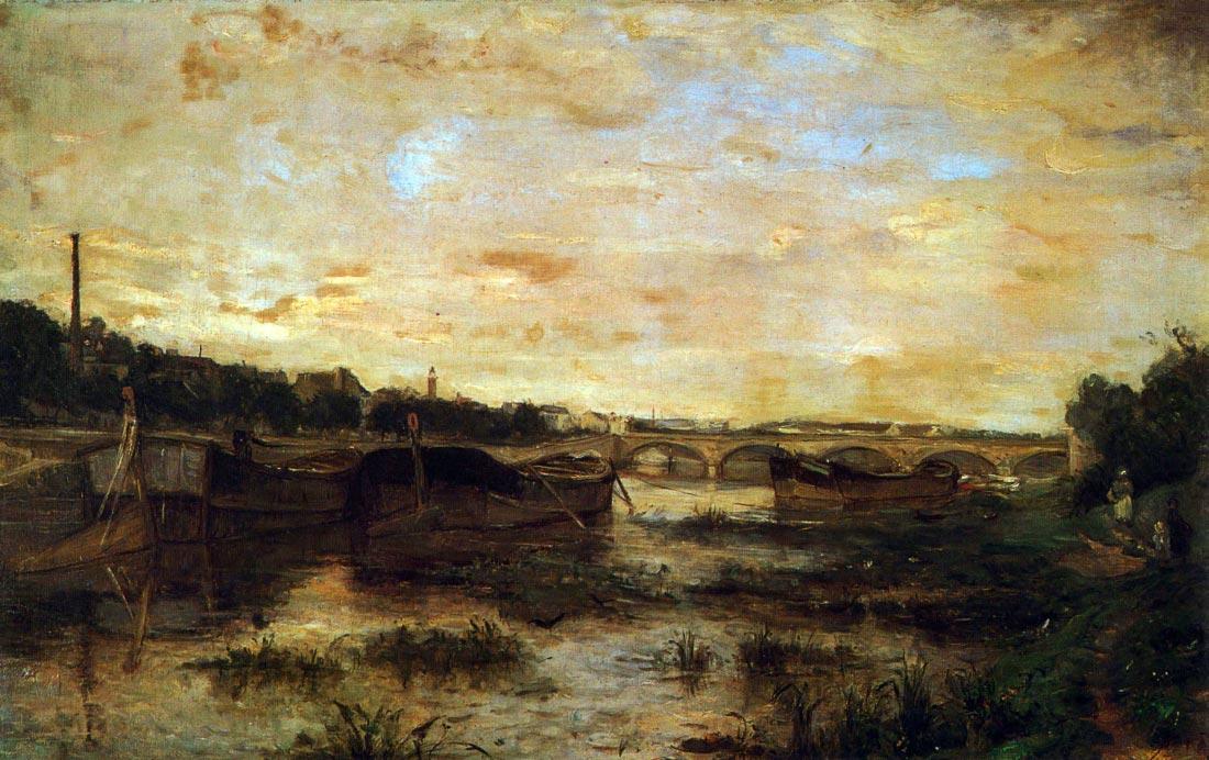 The Seine beneath the Pont d léna - Morisot