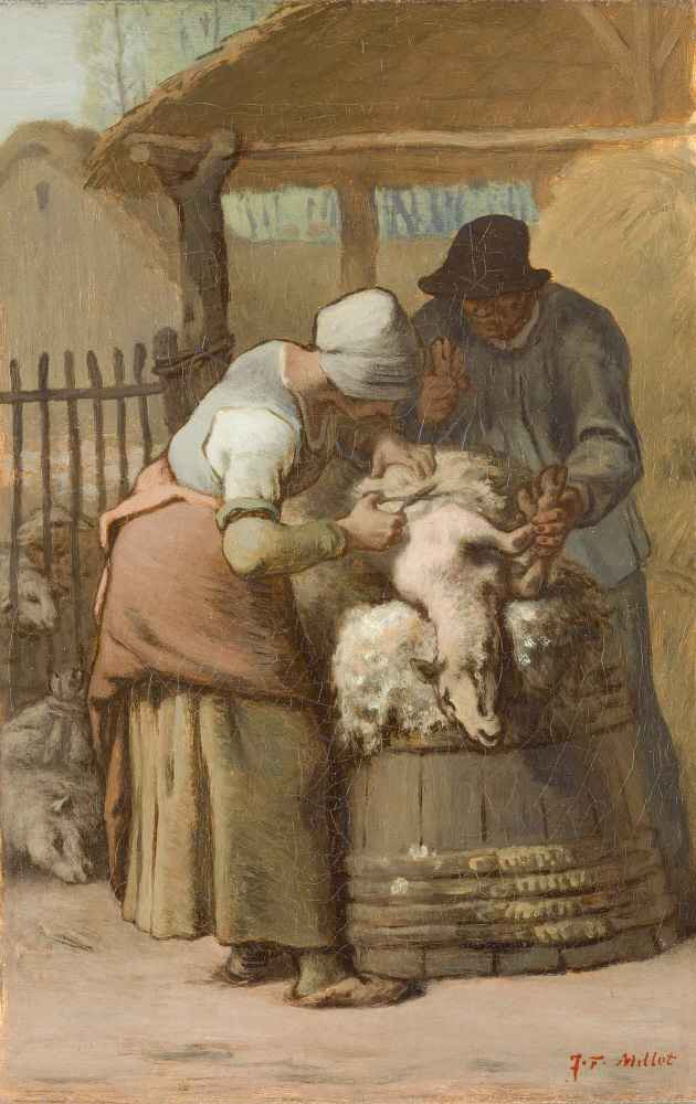 The Sheepshearers - Jean Francois Millet