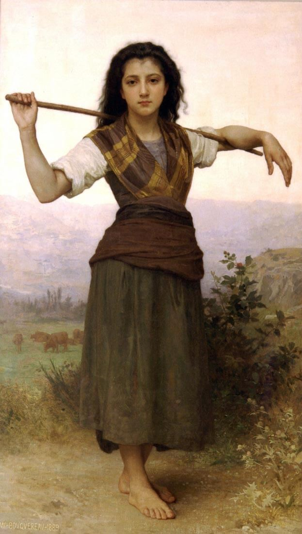 The Shepherdess - Bouguereau