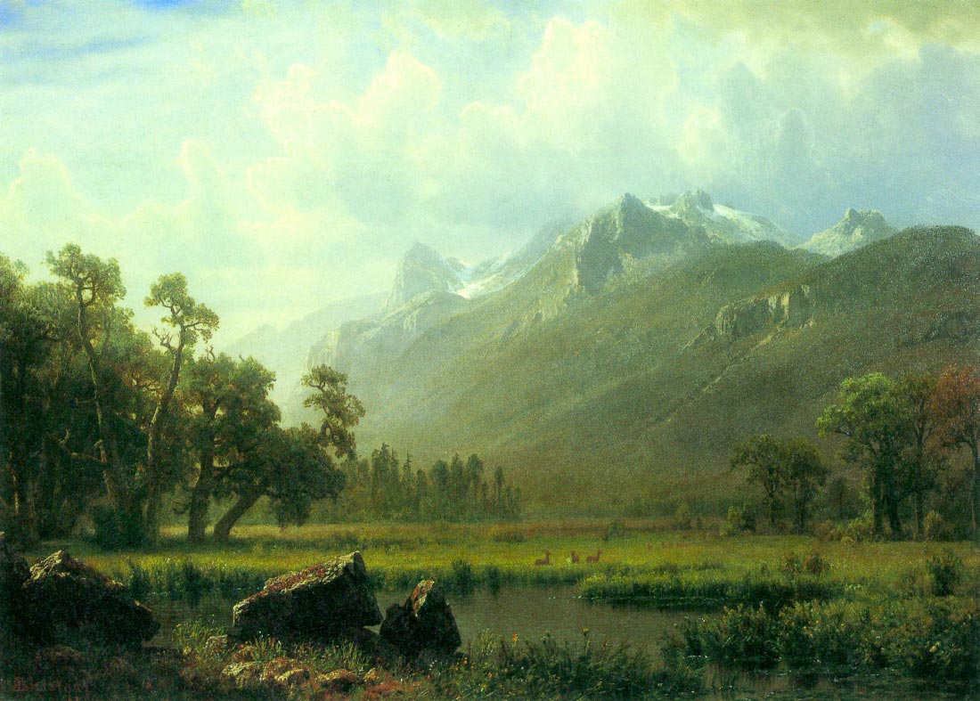 The Sierra near Lake Tahoe, California - Bierstadt