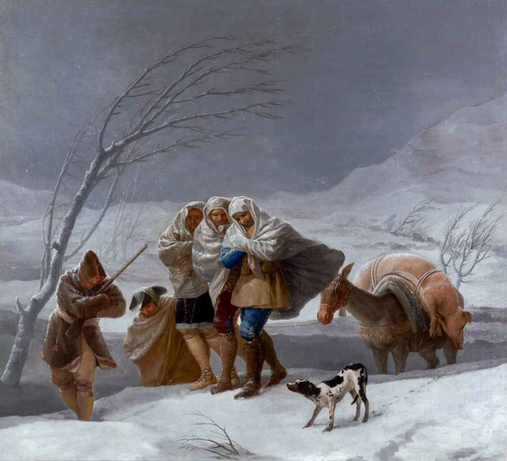 The Snowstorm or Winter - Francisco Goya