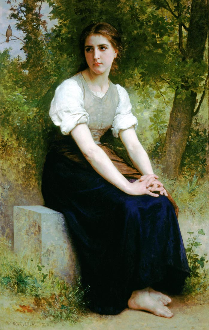 The Song of the Nightingale 1895 - Bouguereau