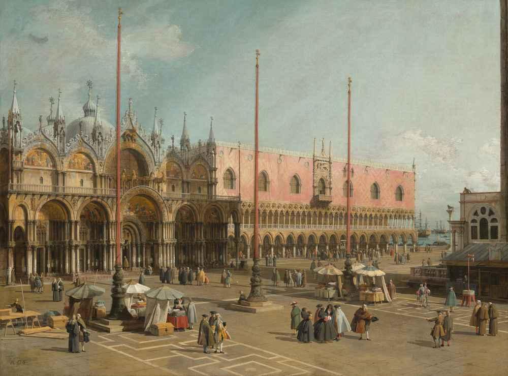 The Square of Saint Marks, Venice - Canaletto - Bernardo Bellotto